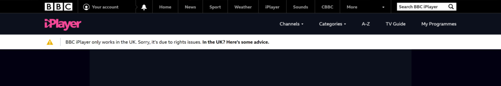 BBC iPlayer Proxy Error